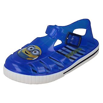 Boys Character Jelly Sandals Minion Fletcher