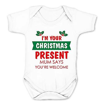 Reality glitch i'm your christmas present�mum says you're welcome kids babygrow