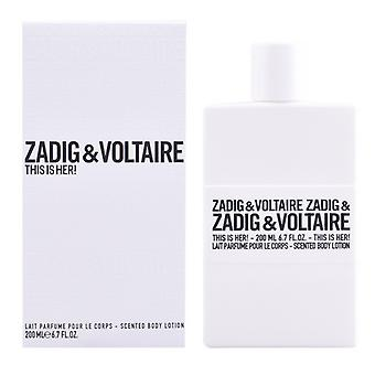 Loção corporal É ela! Zadig e Voltaire (200 ml)