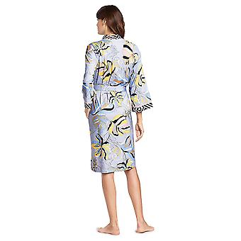Féraud 3191142-16526 Kobiety's High Class Sealeaves Blue Cotton Dressing Gown Loungewear
