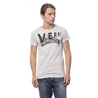 Mannen Verri korte mouwen grijs T-shirt