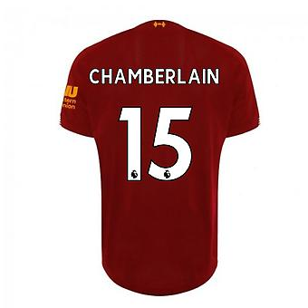 2019-2020 Liverpool Home Football Shirt (Chamberlain 15)