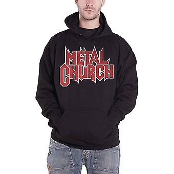 Metal Church Hoodie Red Band Logo The Dark new Official Mens Black Pullover