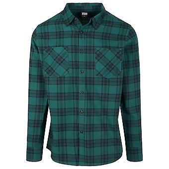 Urban Klassikere FLANELL hette kortermet rutete skjorte