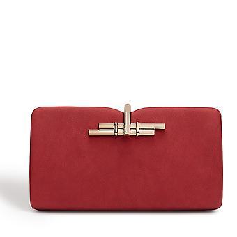Allegro Vegan Red Clutch Bag
