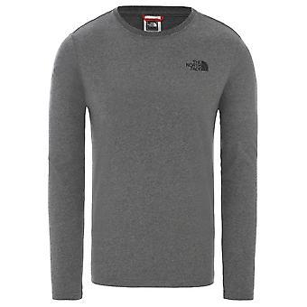North Face Miesten pitkähihainen paita punainen laatikko t-paita