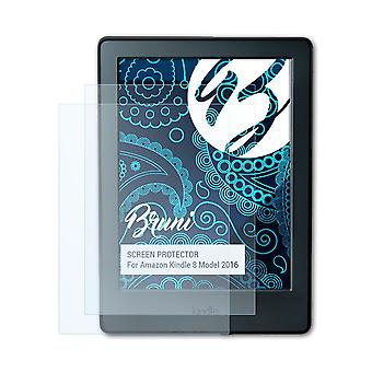 Bruni 2x Screen Protector compatibel met Amazon Kindle 8 Model 2016 Beschermende film