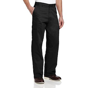 Dickies Men's Loose Fit Cargo Work Pant, Black, 36x32, Black, Size 36W x 32L