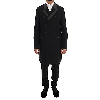 Dolce & Gabbana Black Wool Stretch 3 Piece Two Button Suit
