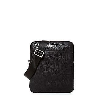 Guess Dan Pu Mini Flat Crossbody Bag for One-Size Black Men's Backpack