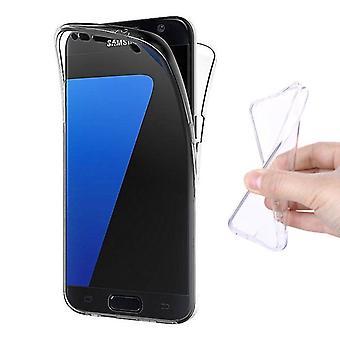 Stuff Certified® Samsung Galaxy S7 Edge Full Body 360 ° Transparent TPU Silicone Case + PET Screen Protector