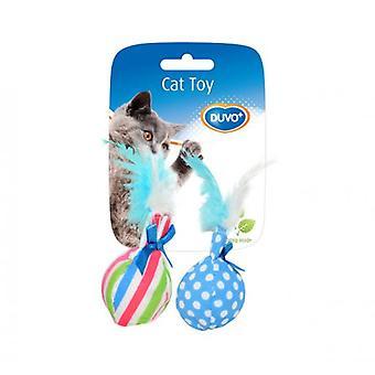 Duvo + Kot zabawka piłki z pióra 14 X 8 X 4 Cm (koty, zabawki, pluszowe & pióro zabawki)