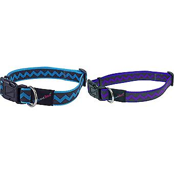 Hemm & Boo Zigzag Adjustable Dog Collar