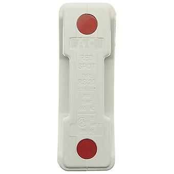 Bussmann RS20HWH 20A Front Connected White Red Spot Fuse Holder