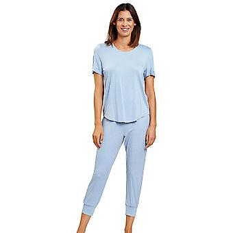 rösch 1203030-10060 kvinner's smart casual jeans blå pyjamas sett