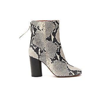 Isabel Marant 19abo009619a027s20ck Women's White/black Leather Ankle Boots