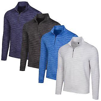 Greg Norman Mens Long Sleeve 1/4 Zip Wicking Mock Golf Sweater