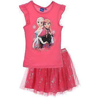 Mädchen ER1164 Disney gefroren Kurzarm T-Shirt & Tutu Rock