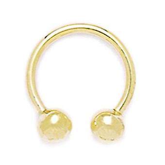 14k Yellow Gold 14 Gauge Circular Body Piercing Jewelry Barbell Measures 18x17mm Jewelry Gifts for Women