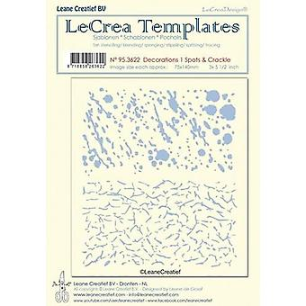 LeCrea Stencil – Decorations 1 - Spots & Crackle (75x140mm)