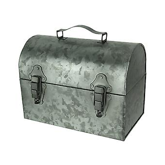 Gegalvaniseerde metalen Vintage Lunchbox Decor Accent