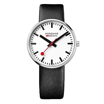 Mondaine Quartz analoge klassieke display en lederen riem mens horloges MSX.4211B.LB
