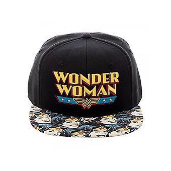 Wonder Woman - Casquette Snapback Halftone