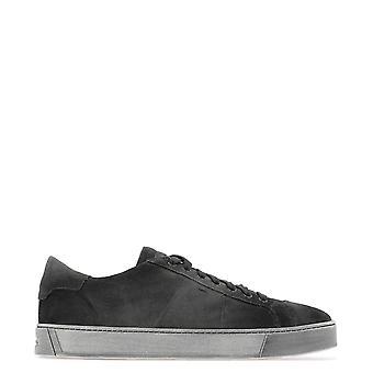 Santoni Mbgl20850sp0mpshg60 Men's Grey Suede Sneakers