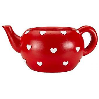 Garden Outdoor Hearts Teapot Plant Pot Planter Weather-Resistant Retro Decor