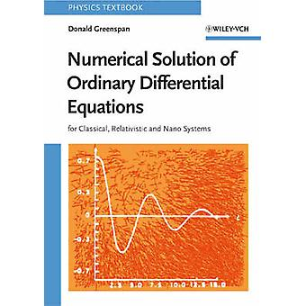 Numerical Solution of Ordinary Differential Equations - For Classical