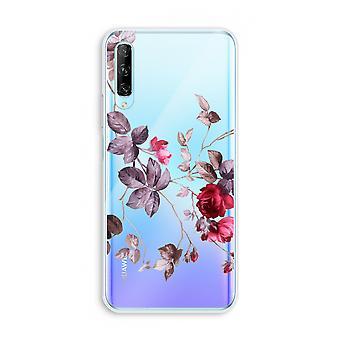 Huawei P Smart Pro Transparent Case (Soft) - Pretty flowers