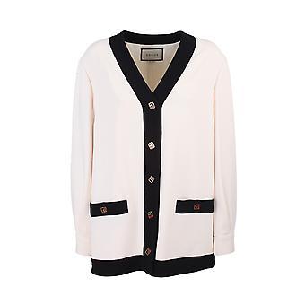 Gucci 596871zkr019102 Damen's weiße Viskose Strickjacke