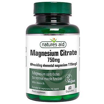 Nature's Aid Magnesium Citrate 750mg Capsules 60 (146920)