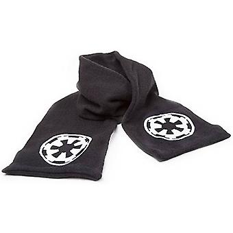 Official Star Wars Black Scarf With White Galactic Empire Logo