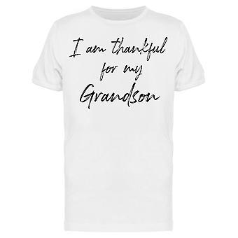 I Am Thankful For Grandson Men&s T-paita