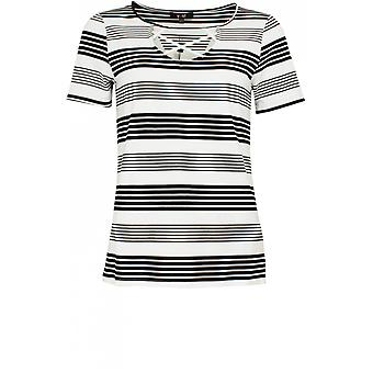 Yest Striped Cross Front Top