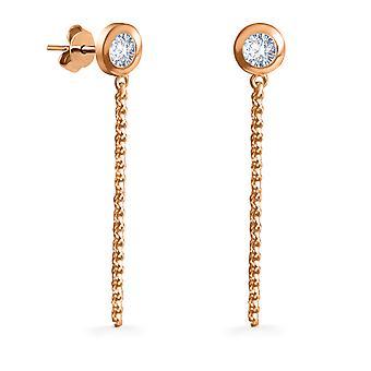 Boucles d'oreilles Solitaire Diva 18K Or et Diamants