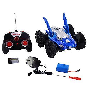 Electric Amphibious Stunt Attack RC Car Remote Control Car Toy Toyrific 360° Blue