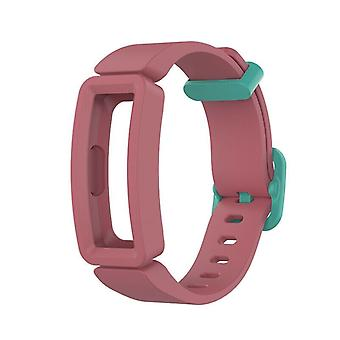 Replacement Silicone Band Strap Bracelet for Fitbit Ace 2/Inspire/Inspire HR[Watermelon Red + Teal]