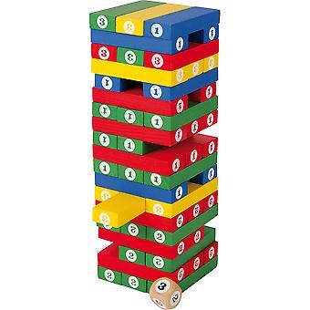 Ξύλινο παιχνίδι πύργων 58pcs