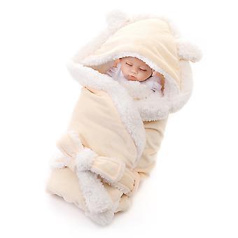 YANGFAN Hood Belt Design Cute Cashmere Baby Blanket