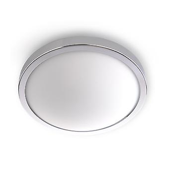 Solaire Plafond Light Steel / Chrome Glass 1 Ampoule