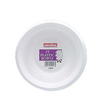 Caroline Plastic Bowls (Pack Of 15)