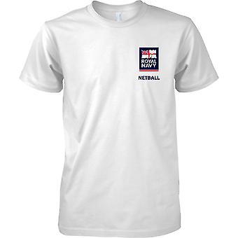 Logo de Netball RN 2 - Marine royale Sport T-Shirt couleur