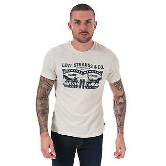 Men's Levis 2 Pferd Grafik T-Shirt in weiß