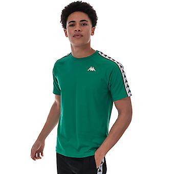 Men's Kappa Coen Banda T-Shirt em Verde