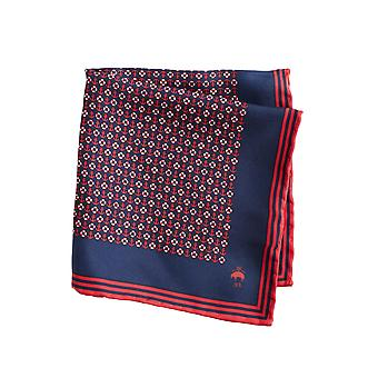 Brooks Brothers Men's Red- Silk Pocket Square