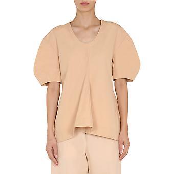 Jil Sander Jscr560706wr244200259 Women's Pink Cotton T-shirt