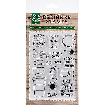 Echo Park Stamps  -Coffee & Friends