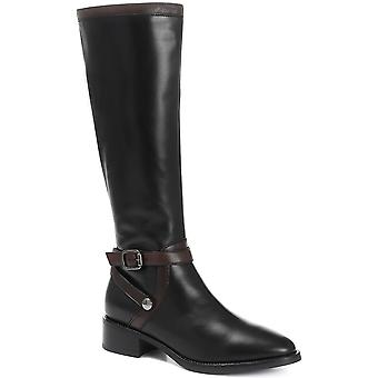 Jones Bootmaker Womens Leather Flat Pointed Riding Boot